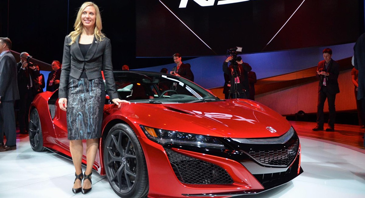 Michelle Christensen designed of the Acura NSX