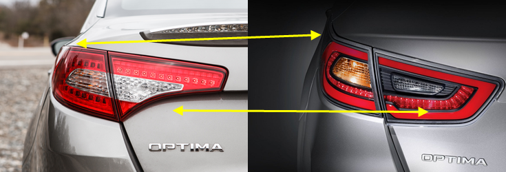 Kia optima Tail Light Comparison